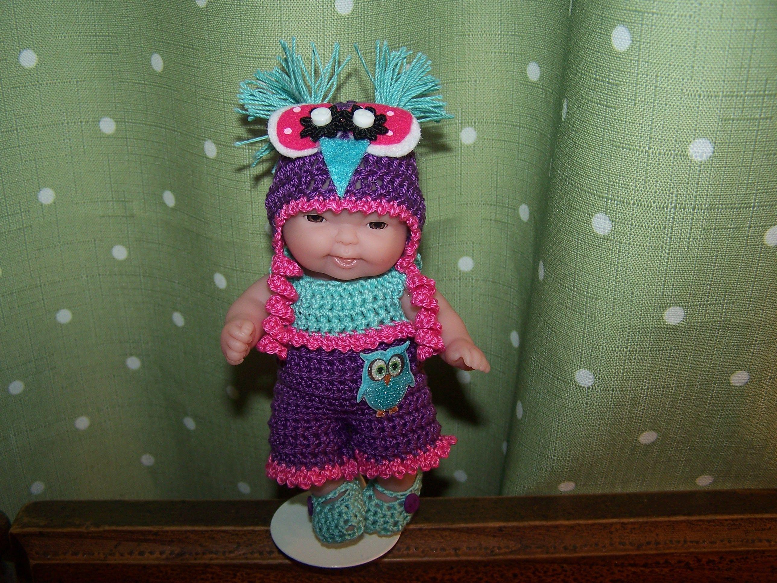 Ooak crochet owl hat