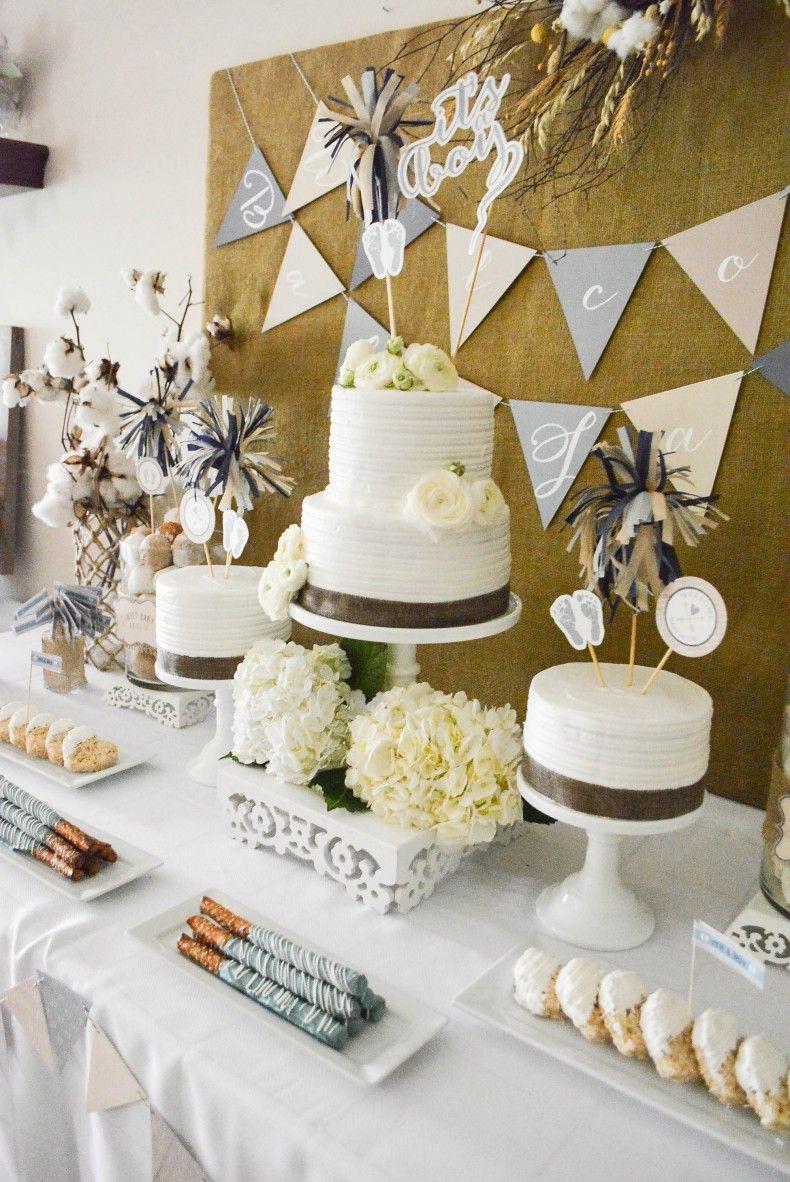 Baby Shower Dessert Table : shower, dessert, table, Rustic, Shower, Dessert, Table, Shower,, Desserts,