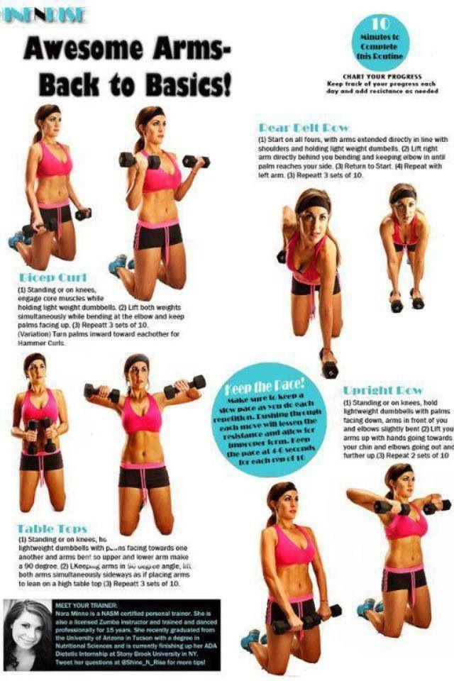 Para brazos y espalda ponerse en forma pinterest entrenamiento salud y ejercicio y ejercicios - Ponerse en forma en casa ...
