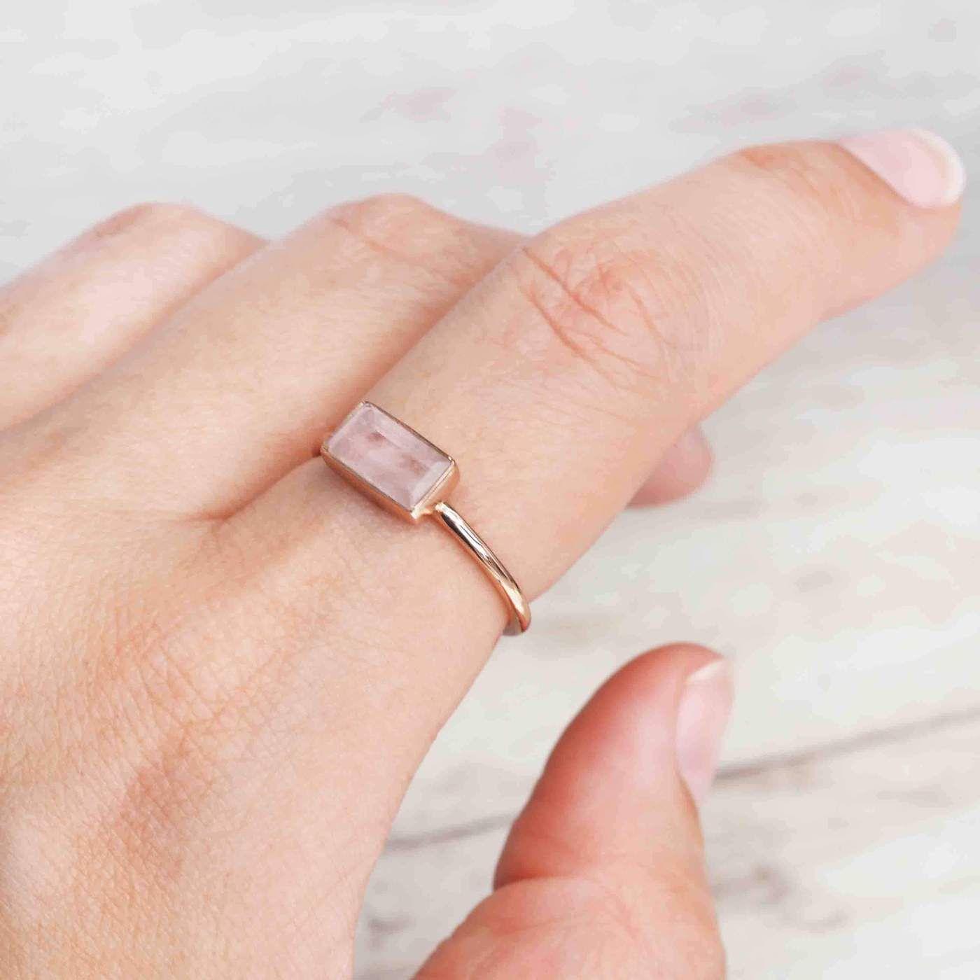 Rose Gold Amore Morganite Ring. Natural Morganite Stone. Rose Gold Ring. Rose Gold Morganite Jewelry. Rose Gold Jewelry. Morganite Jewels. Natural Morganite and Rose Gold. Bohemian Jewellery. Boho Jewelry. Indie and Harper.