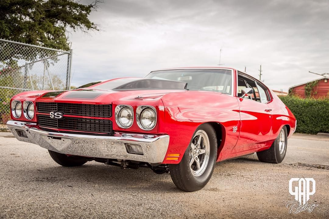 """Tim's uncle came by today in his 1970 Chevelle. He was able to get out and put some miles on the 1100+ Horsepower pump gas motor. @gapracing built the…"""