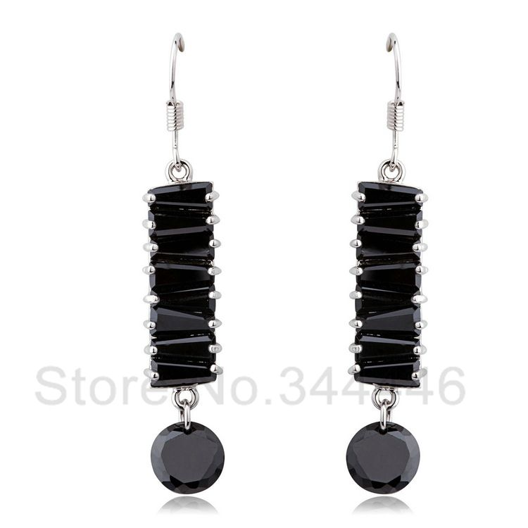 free ship Zircon earrings popular Korean version of the exaggerated retro Austrian crystal earrings $9.80