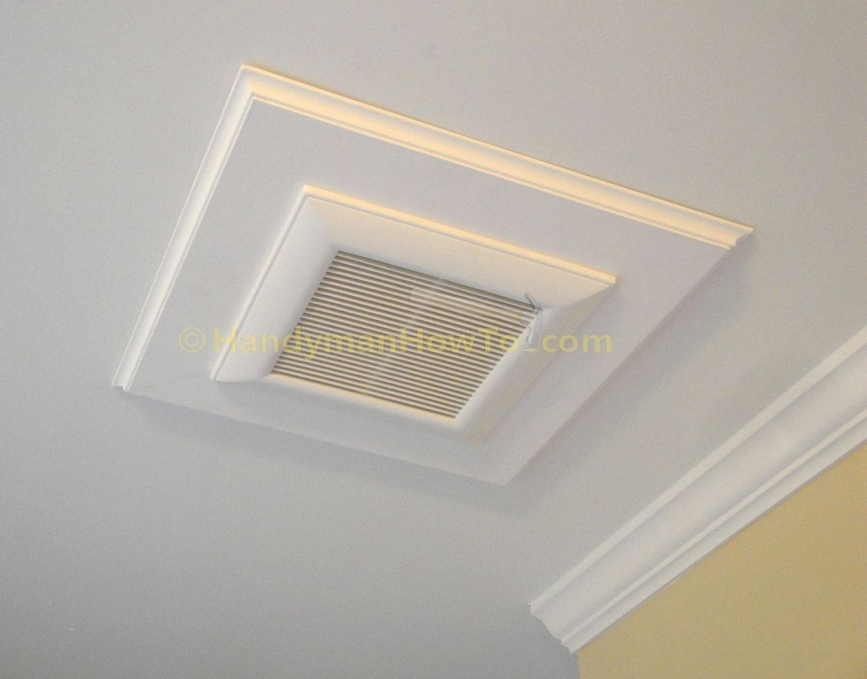 Bathroom Vent Fan Decorative Wood Trim To Conceal A Gap In The Drywall Bathroom Vent Bathroom Vent Fan Bathroom Exhaust Fan