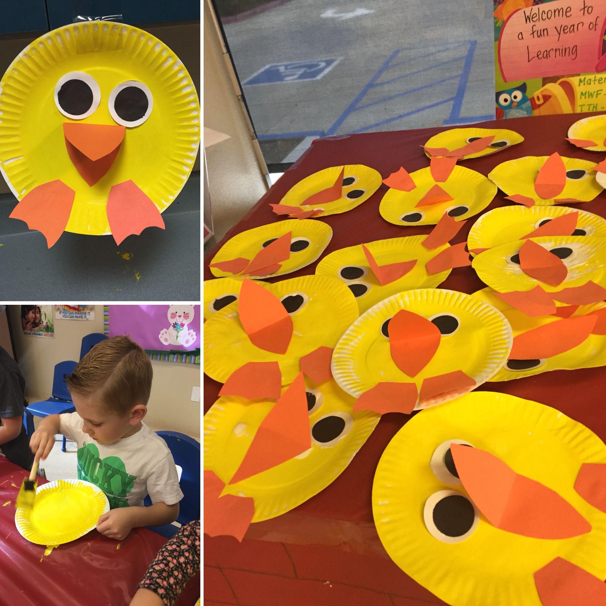 Duck Paper Plate Activity Craft For Pond Preschool Week