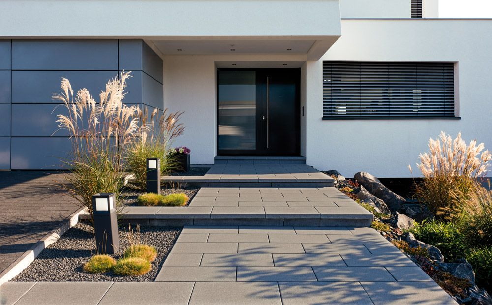 Arcadia platten richten das wohnzimmer im gr nen perfekt for Hauseingang modern