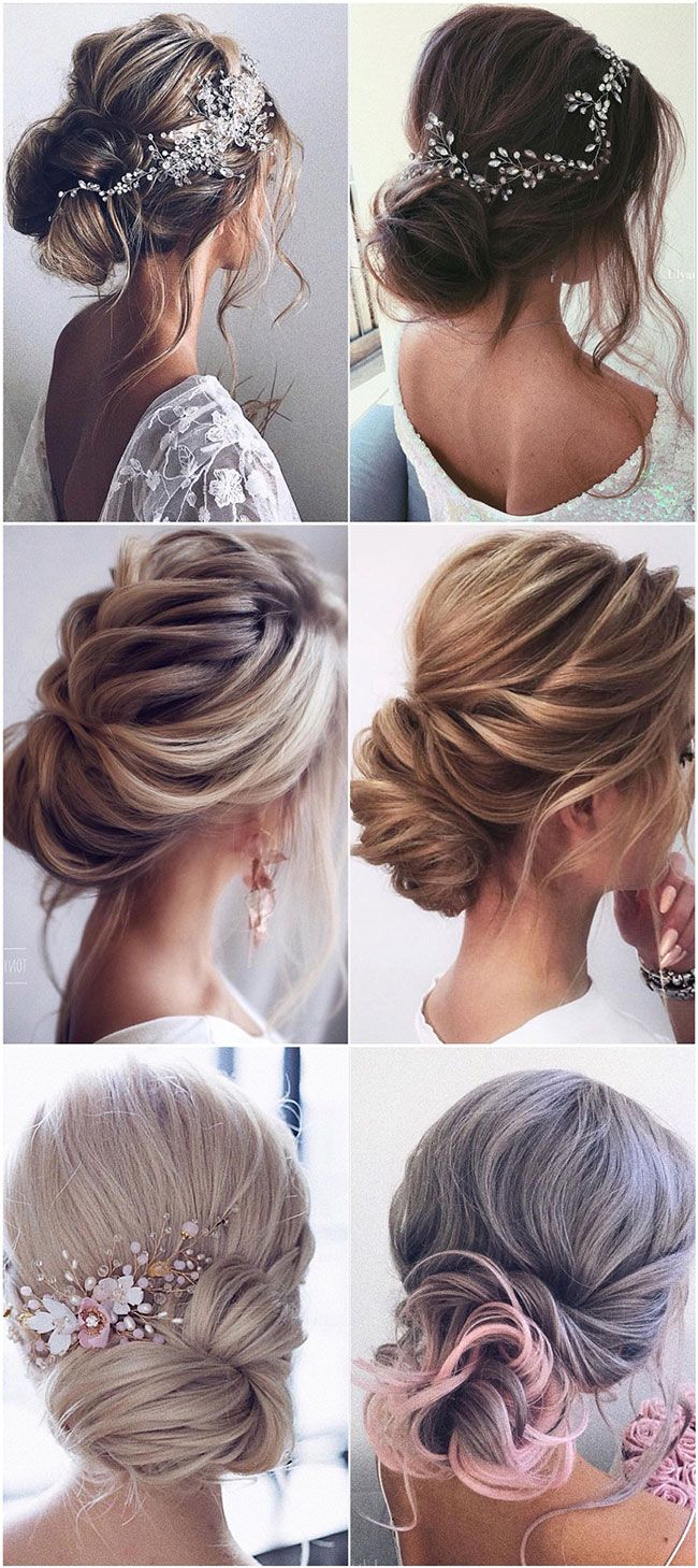 62 Wedding Hairstyles From Ulyana Aster To Get You Inspired Simple Bridal Hairstyle Low Bun Wedding Hair Wedding Hair Inspiration