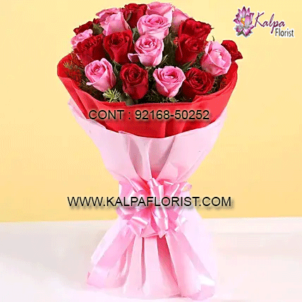 Red And Pink Roses Bouquet Flower Bouquet Near Me In 2020 Buy Flowers Online Pink Rose Bouquet Flowers Bouquet