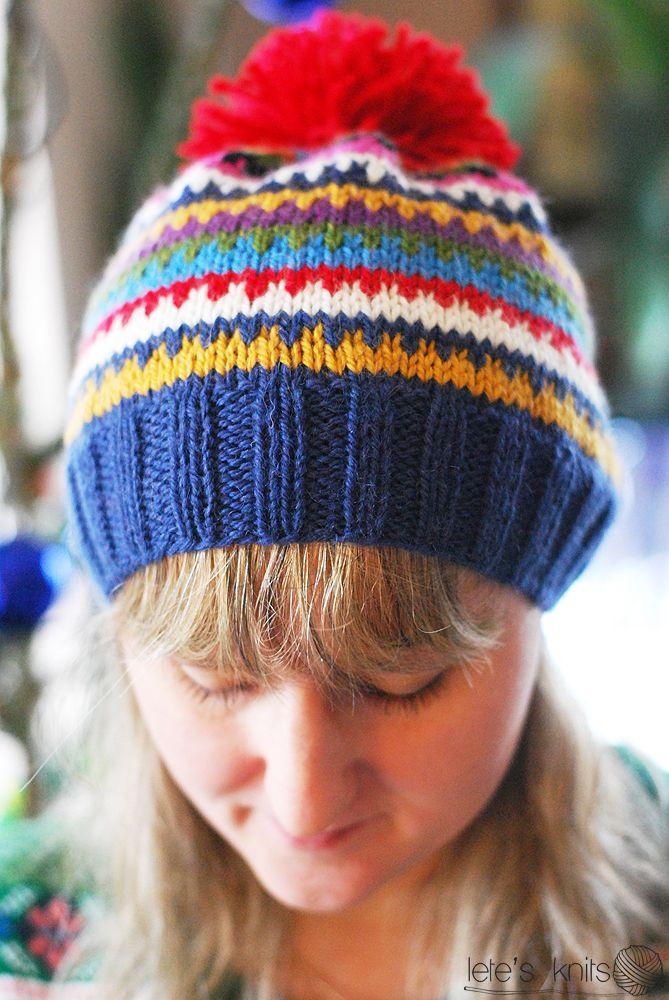 Scrappy Ski Hat – a free pattern   Lete\'s Knits   knitting ...