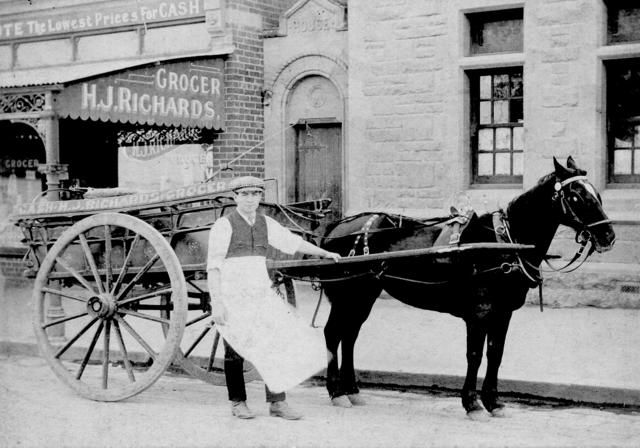 Horse And Cart Delivery H J Richards Grocer Horse