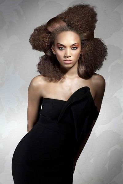 Avant Garde Hairstyle With Volume And Different Textures Hair Styles Curly Hair Styles Black Women Hairstyles