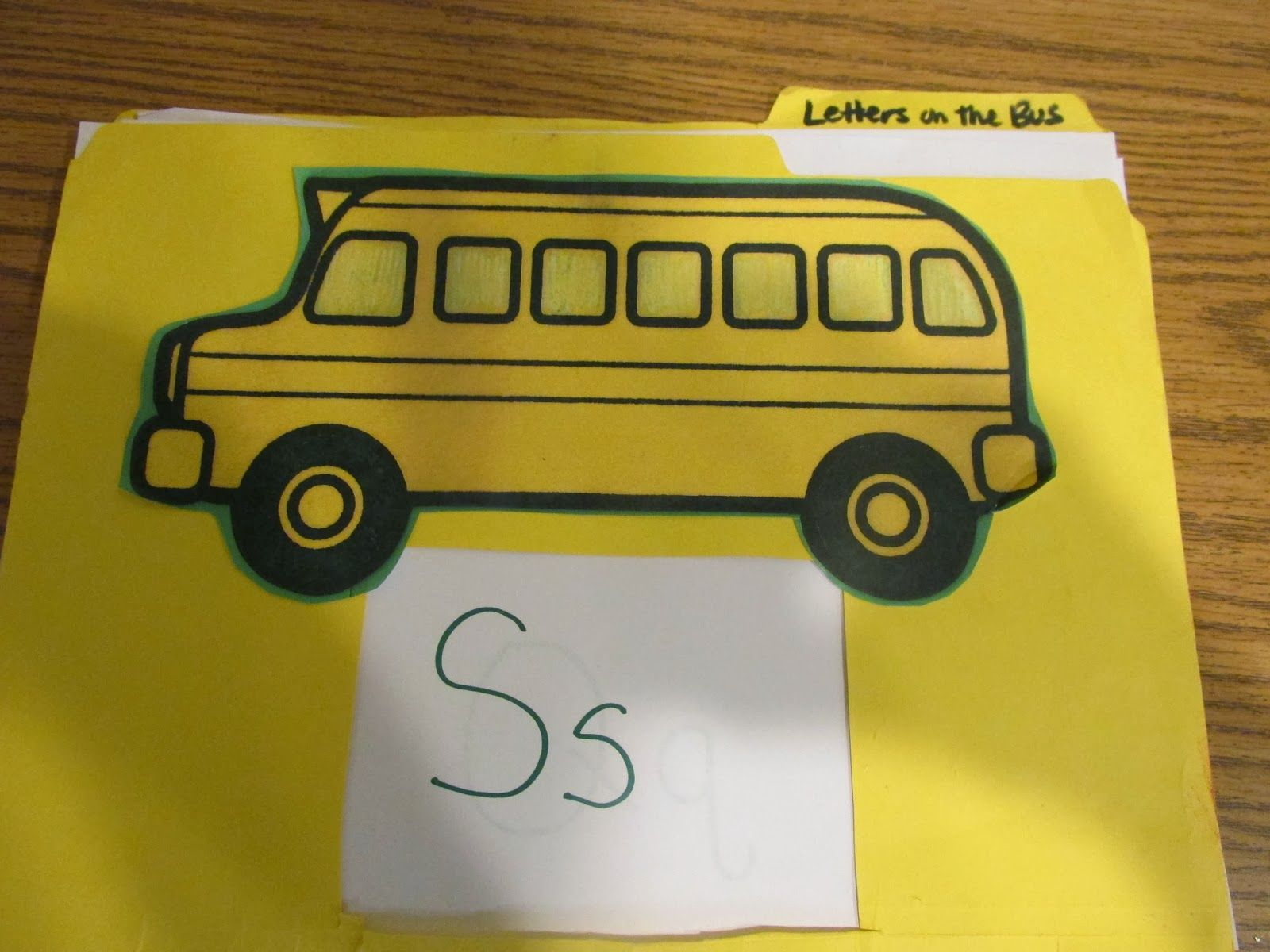 Letter review with Wheels on the bus! Use animals for
