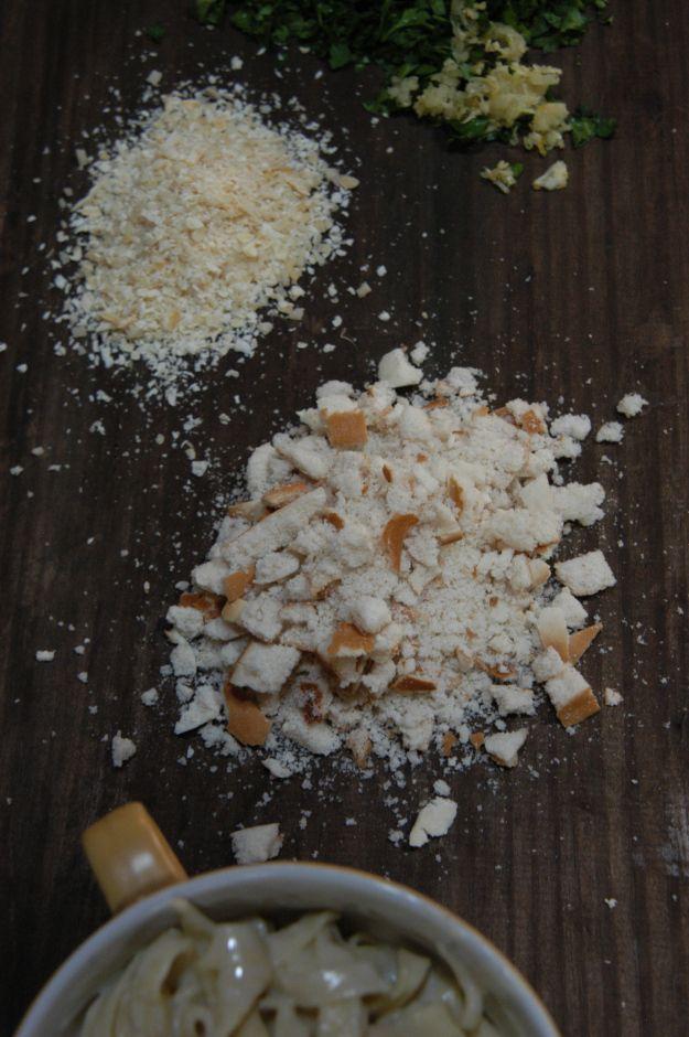 pan crocante con gremolata