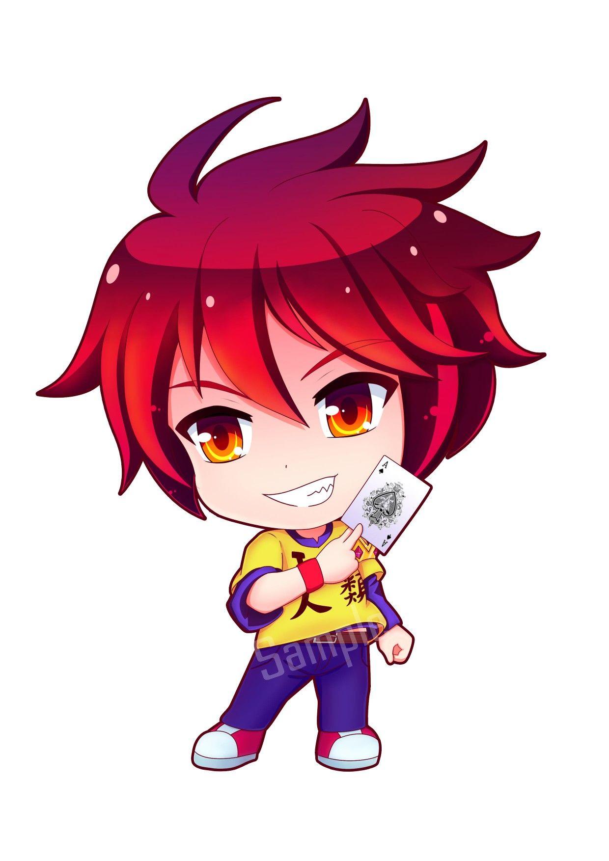 No Game Life Anime Chibi Kawaii Manga Characters