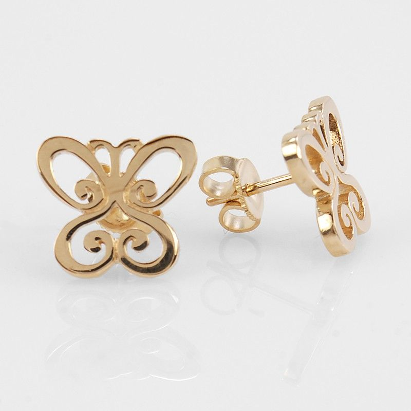 "James Avery 14k Yellow Gold ""Spring Butterfly"" Earrings"