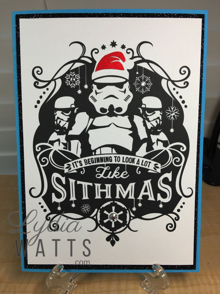 Star Wars Christmas Cards Lydia Watts Star Wars Christmas Cards Geek Christmas Star Wars Crafts