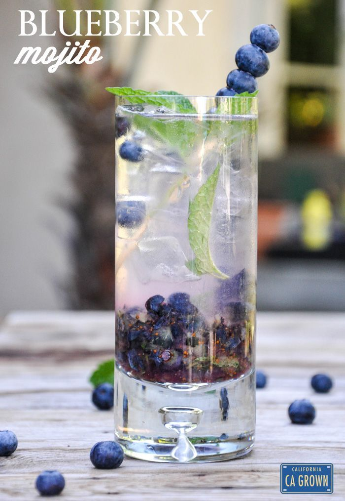 California Blueberry Mojito | CA GROWN #blueberrymojito California Blueberry Mojito | CA GROWN #blueberrymojito