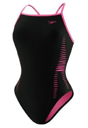 db852addb6 Speedo Extreme Back Laser Cut Female Black/Pink 34 Speedo. $30.64 ...