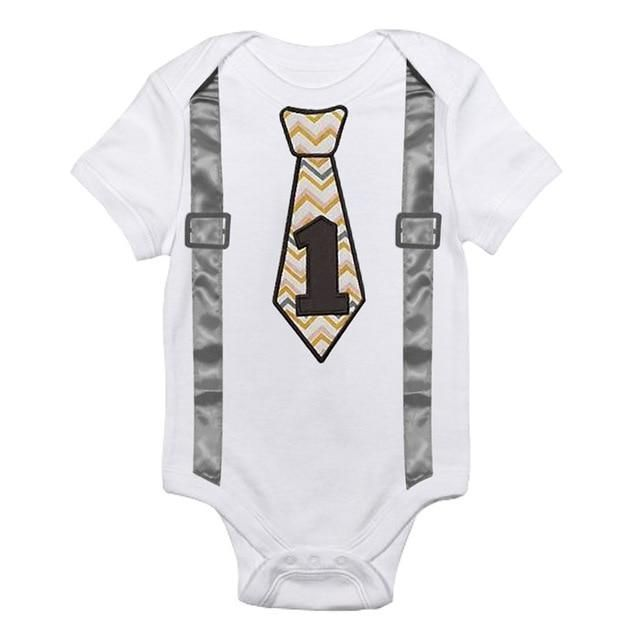 New Baby Boy Girl Romper My 1st Birthday First Party Bodysuit One-piece Clothes