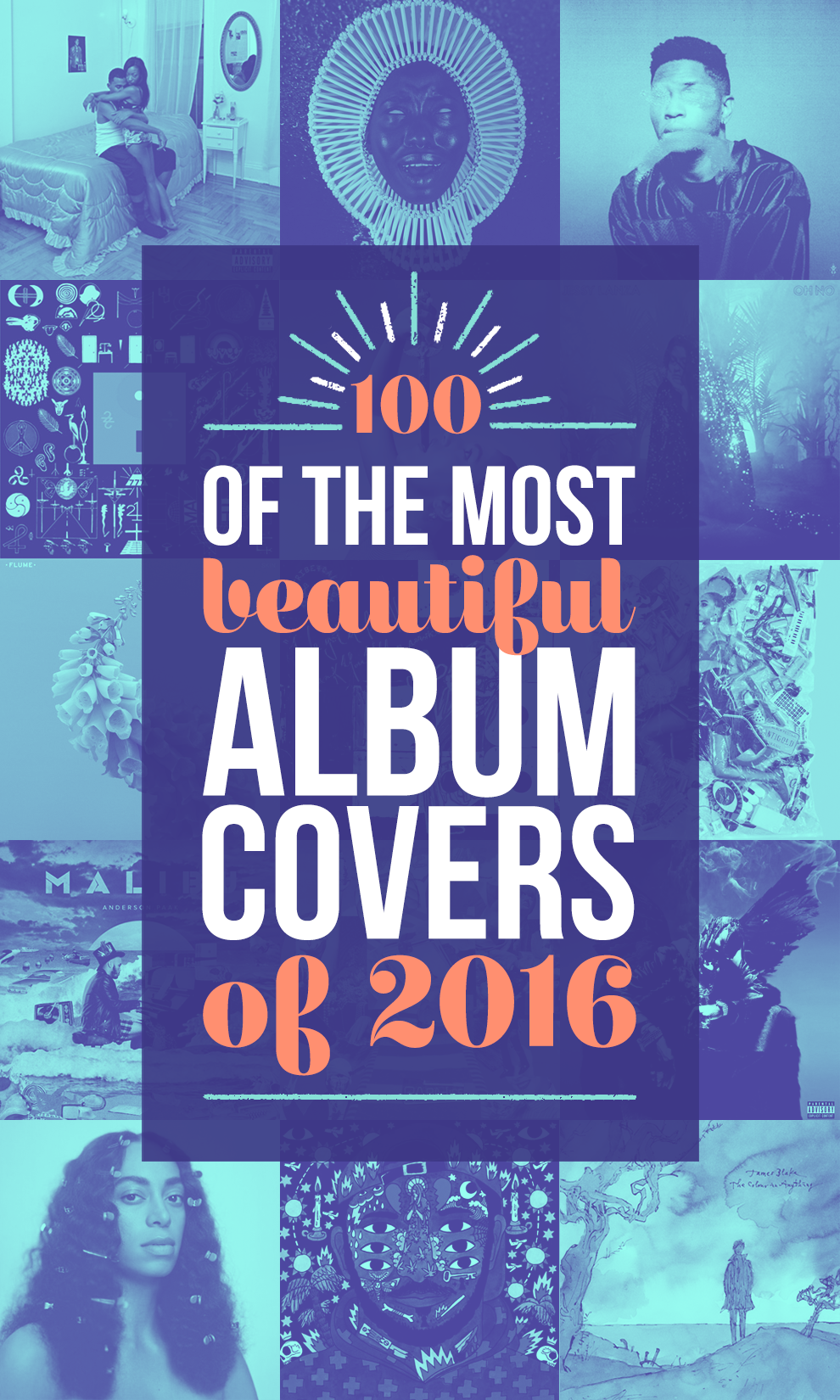 100 Album Covers From 2016 That Will Leave You Speechless Album Covers Cool Album Covers Chance The Rapper