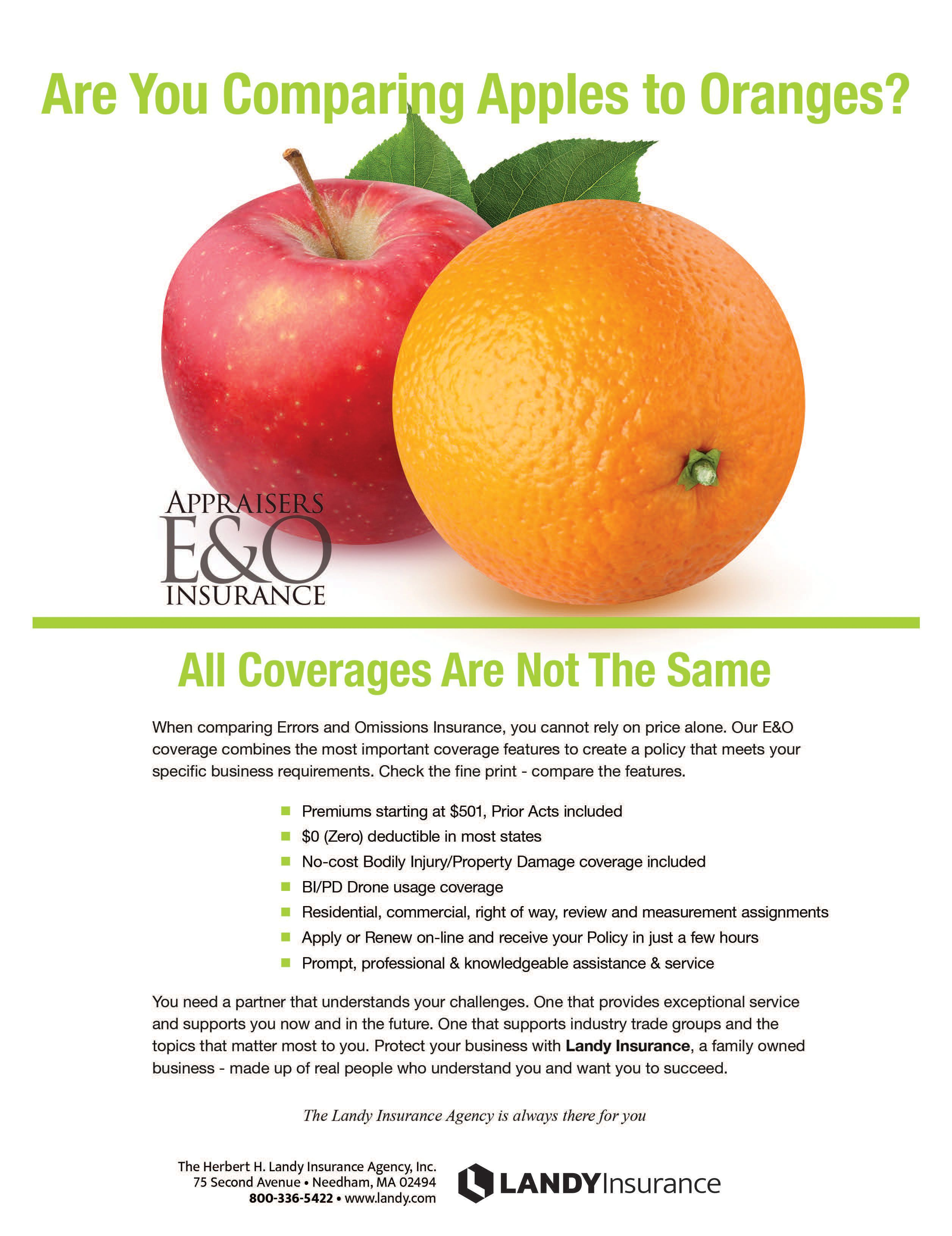 Are You Comparing Apples to Oranges All Coverages Are