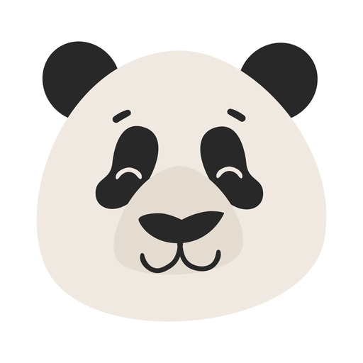 Panda Head Spot Muzzle Flat Sticker Ad Ad Affiliate Spot Sticker Flat Head Panda Head Panda Background Design