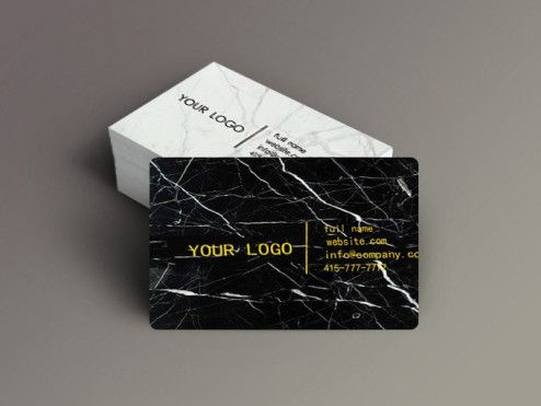 The World S First Marble Stone Business Cards Business Cards Collection Luxury Business Cards Business Card Design Black