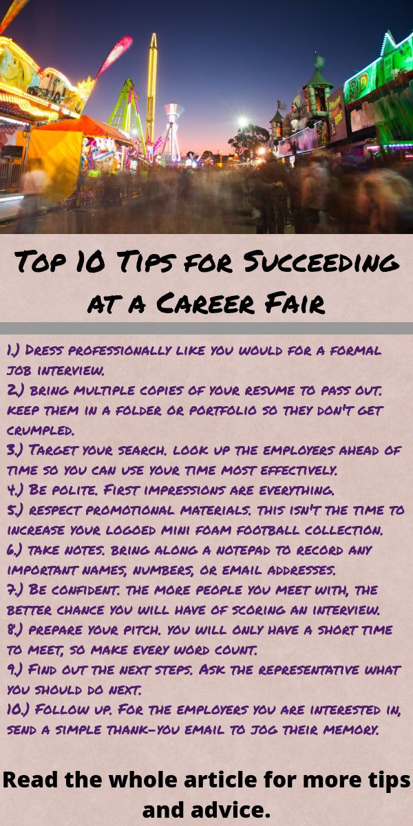Exceptional Top 10 Tips For Career Fair Success | Job Search Info Post To  This Board