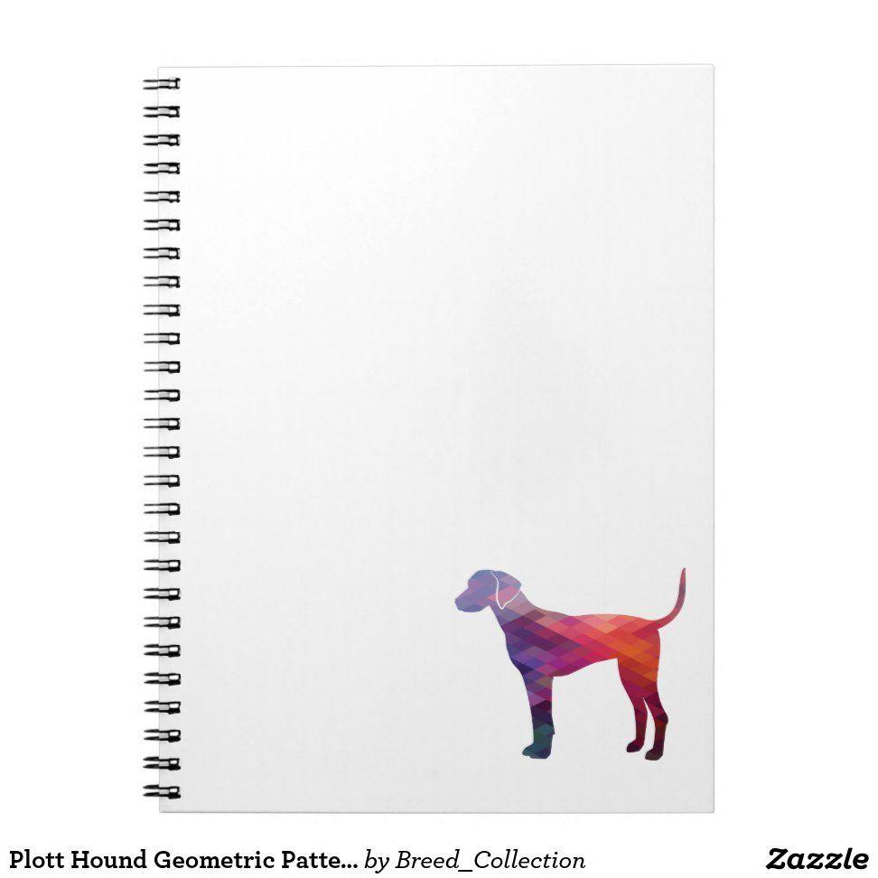 Plott Hound Geometric Pattern Silhouette Purple Notebook   Zazzle.com