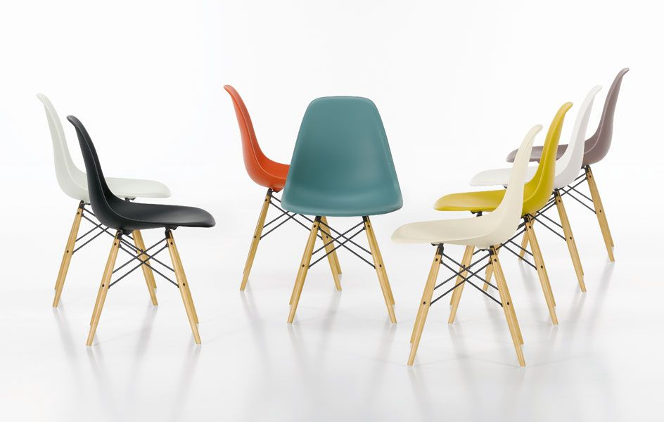 Vitra Sedia A Dondolo Eames Plastic Armchair Rar : Eames chair by vitra wishlist pinterest side chair eames dsw