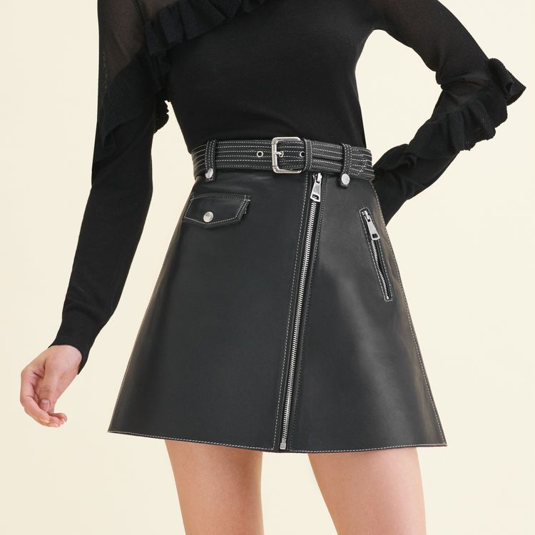 JOUKI Black | | Jupe cuir, Jupe, Tenue jupe