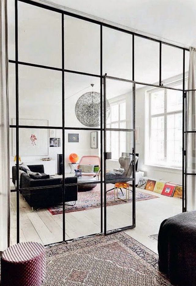 12 Great Uses Of Glass Walls French By Design Glass Room Divider
