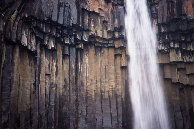 Check out Basalt Column Waterfall by Northlandscapes on Creative Market