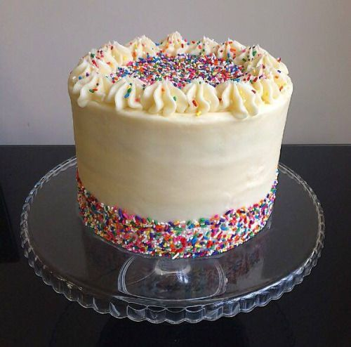 Homemade Funfetti Birthday Cake Via R Food With Images
