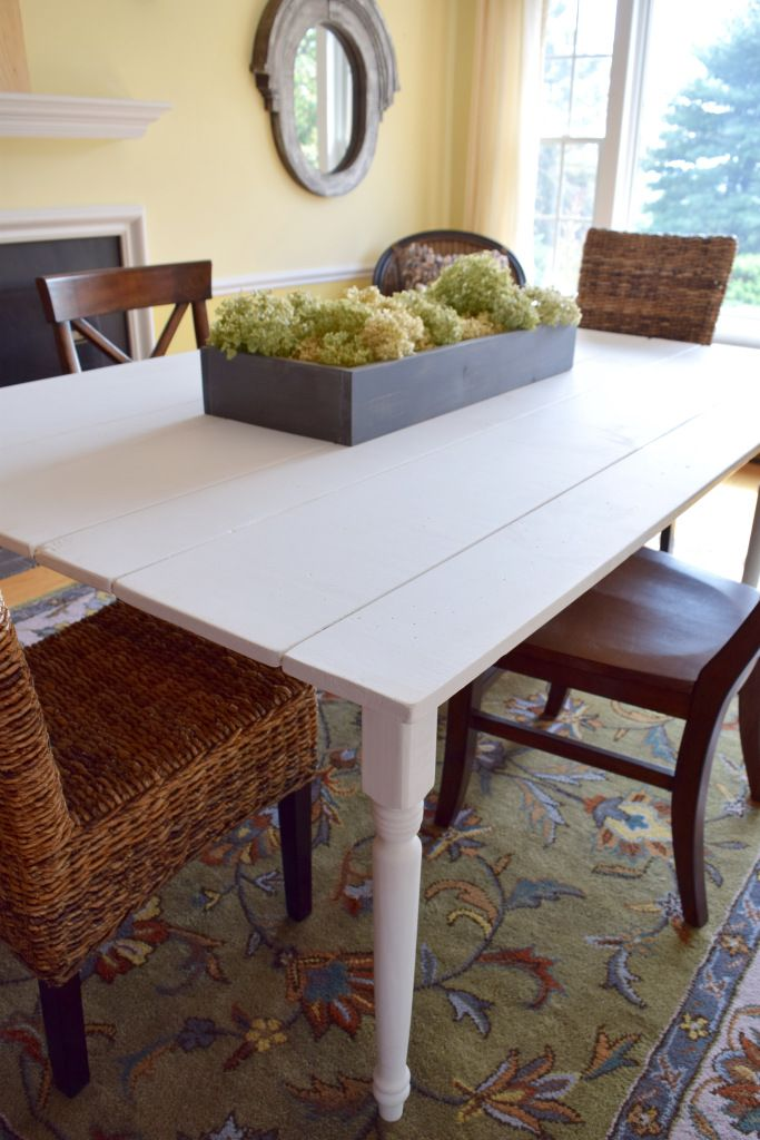 DIY Farmhouse Kitchen Table | Karen's Up On The The Hill- Feature #HomeMattersParty 54