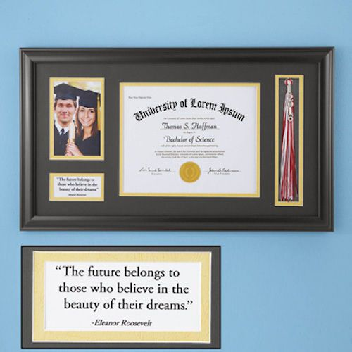 diploma graduation picture frame holder tassel photo keepsake class 2016 glass