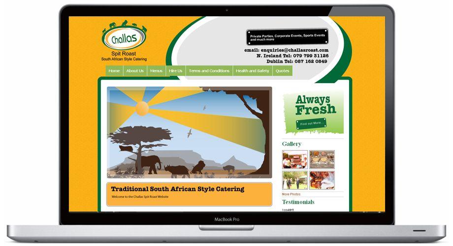 Website Design For Challas Spit Roast Catering Northern Ireland Portfolio Website Design Website Design Portfolio Design