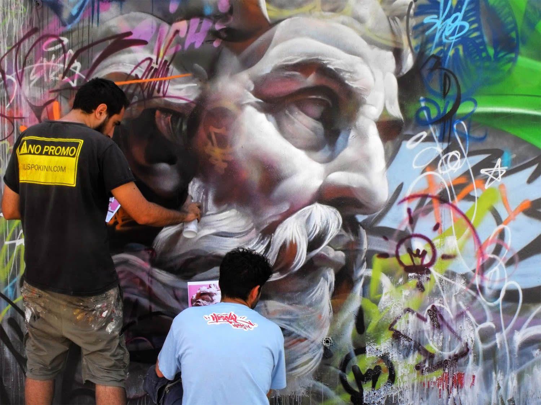 PichiAvo Graffiti Art X Greek Mythology Graffiti Street Art - Beautiful giant murals greek gods pichi avo