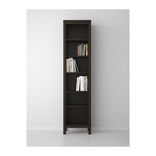 Hemnes Bookcase Black Brown Ikea Use One On Each Side Of The Bed With Hanging Shelves Instead A Headboard
