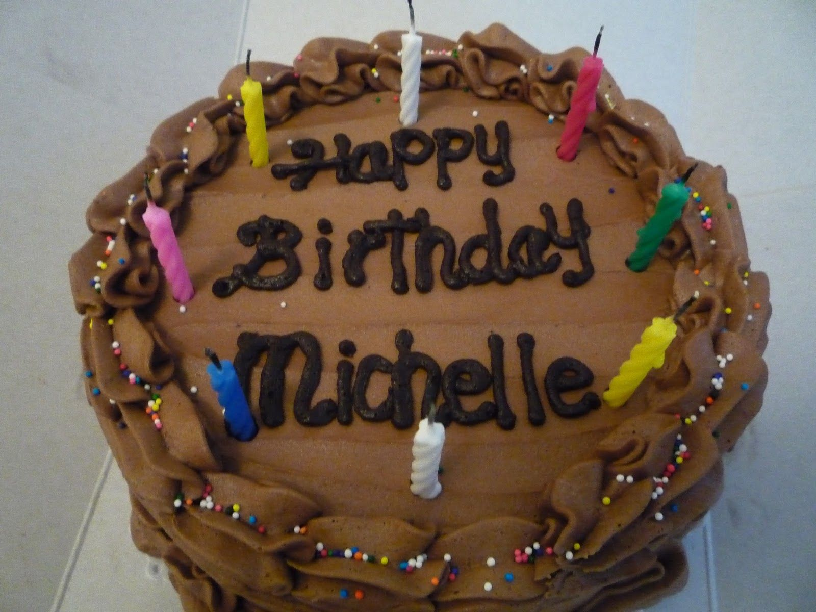 Happy Birthday Michelle Wishes SMS Quotes, Cake Images