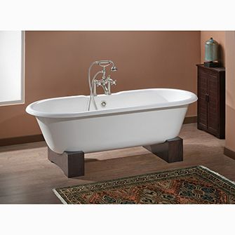 Recor Cheviot Freestanding Bathtub Regal 61 Wooden Base Free Standing Bath Tub Soaking Bathtubs Free Standing Tub