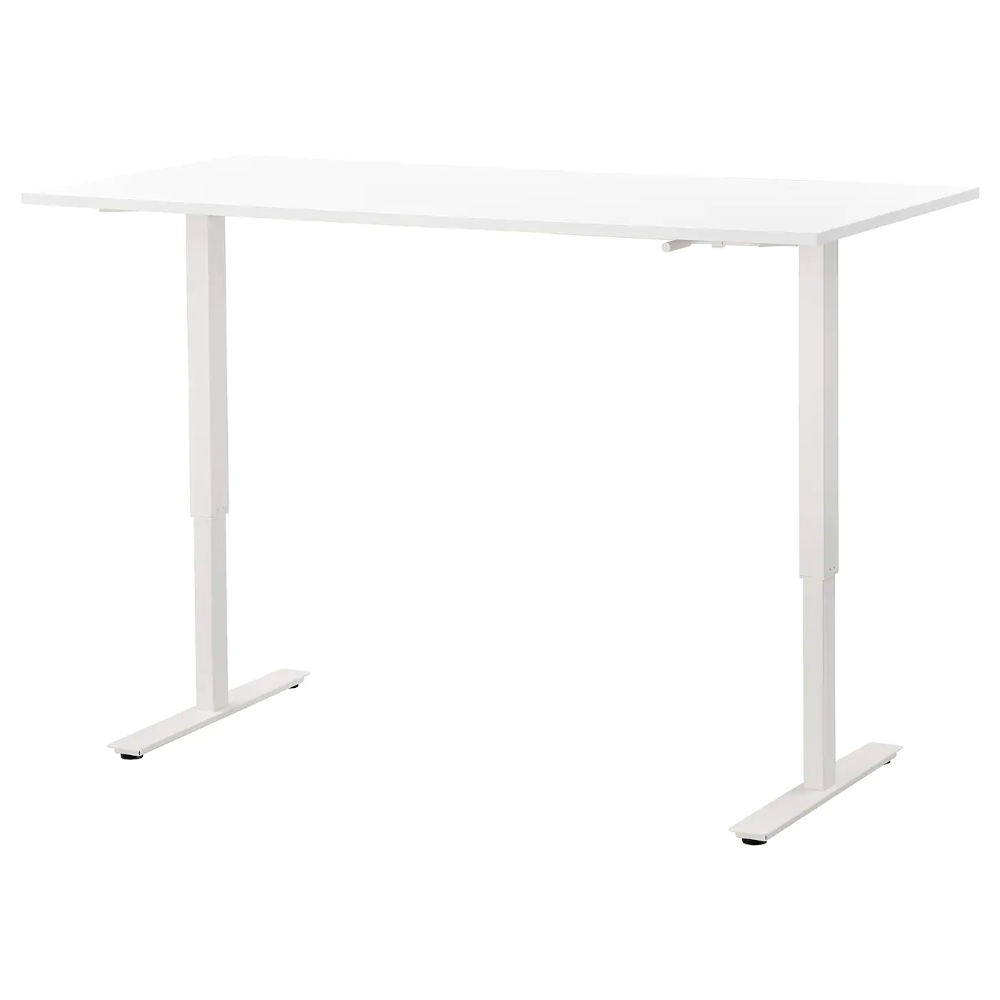 Skarsta Desk Sit Stand White 63x31 1 2 Ikea In 2020 Ikea Desk Adjustable Desk