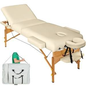 Table De Massage 3 Zones Pliante 10 Cm D Epaisseur Noir Table De Massage Table De Lit Bain De Soleil