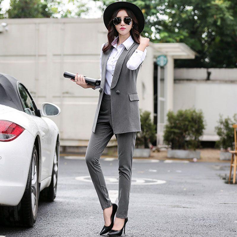 Sleeveless Pant Suit Ladies