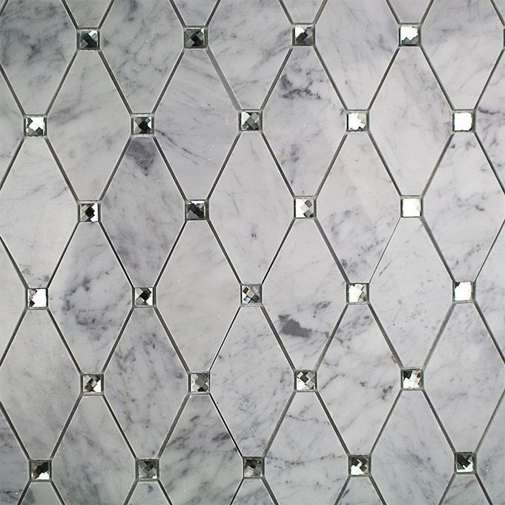 white diamond tile with marble antique mirror accents for accent ...
