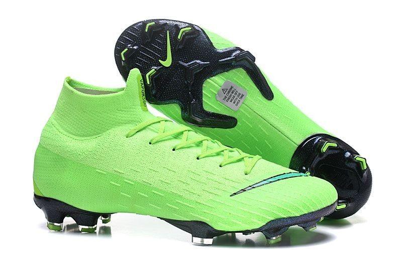 Classic Nike Mercurial Superfly VI Elite FG Soccer Cleats - Green Black ede5dd1d84e32