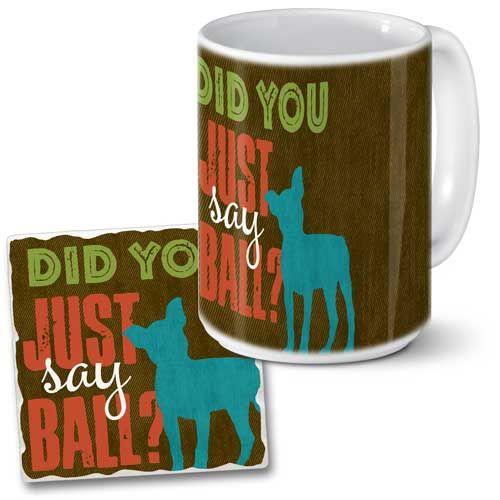 Mug Coaster set in our Spot On collection #dog #mugs #coaster #gift # highland
