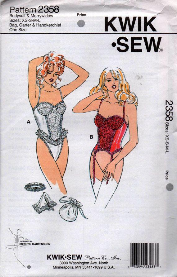 90s Wedding Lingerie & Accessories Pattern Teddy Garter Drawstring ...