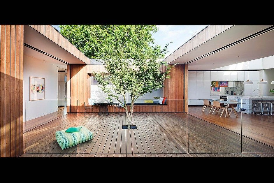 Our Favourite Rooms From The 2015 Australian Interior Design Awards Victorian Terrace House Courtyard House Plans Courtyard House