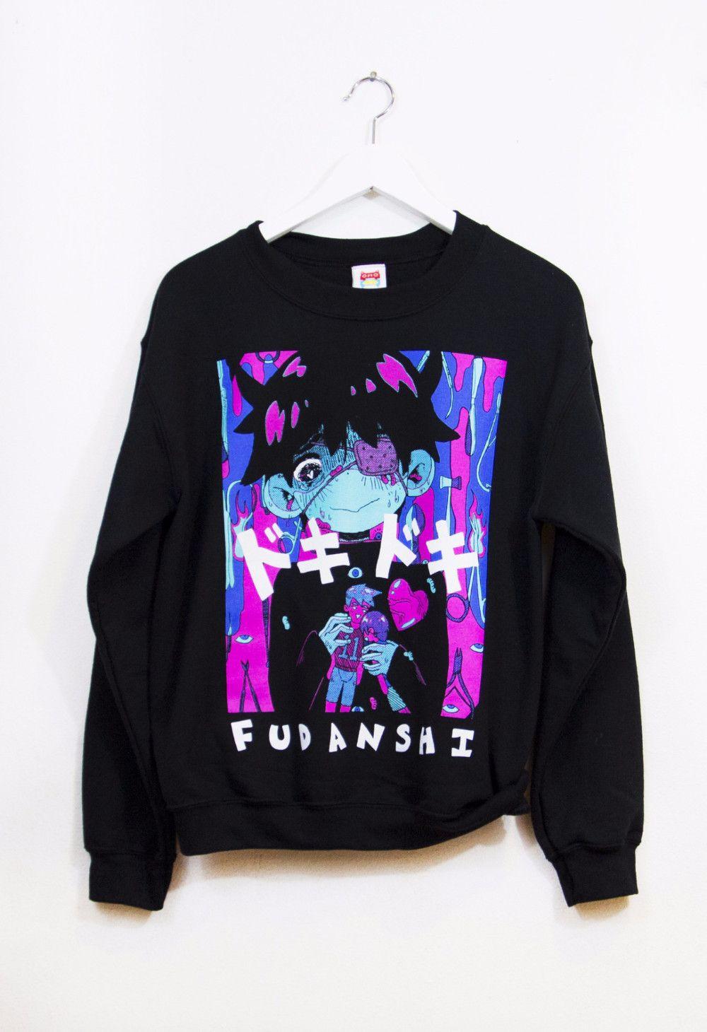 Sweater Fashion goth Sweaters FUDANSHI Clothes pastel x4HwC11Sq