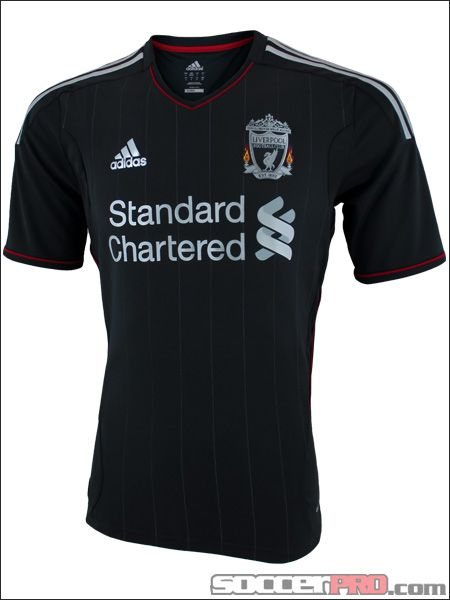 The adidas Liverpool Away Jersey for 2011-2012 is black and an instant  classic... 59.99 2f825783ee6ec